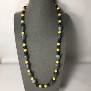 Beads n stones long string necklace